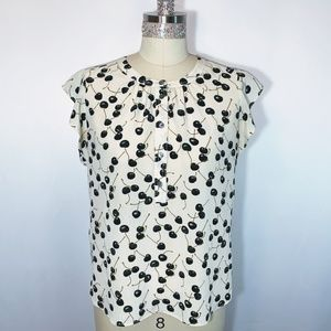 J. Crew super cute blouse cherries print